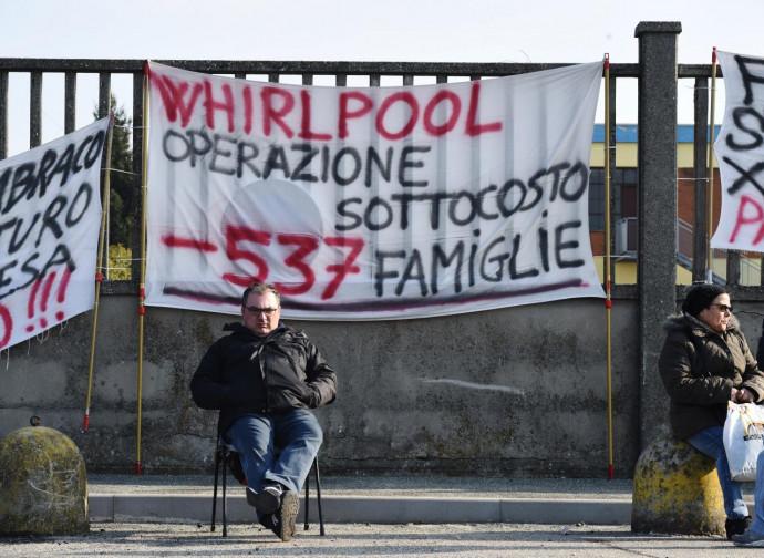 Embraco/Whirlpool, la protesta dei lavoratori
