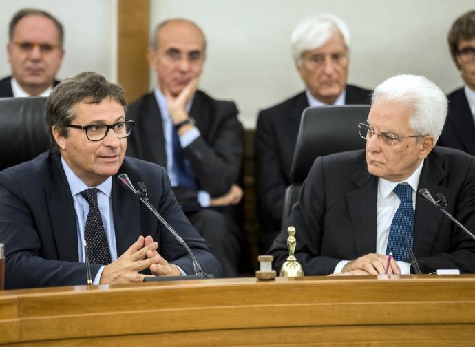 David Ermini e il presidente Mattarella