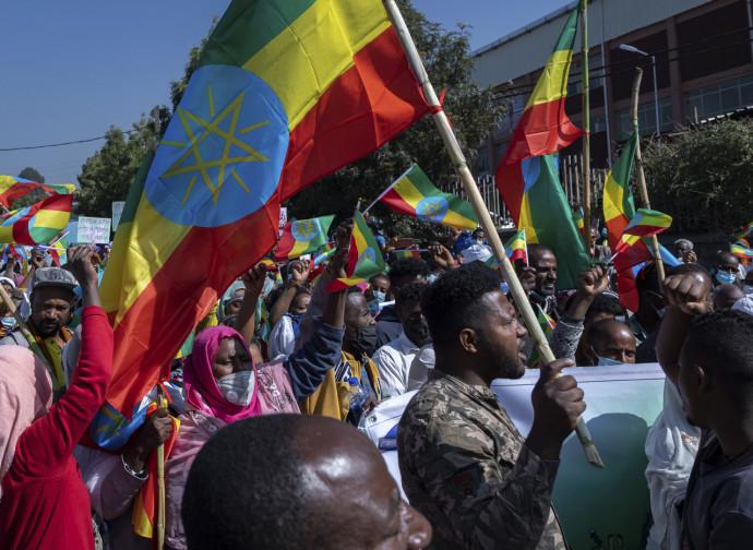 Etiopia, manifestazione patriottica ad Addis Abeba