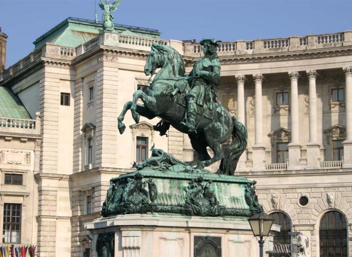 La statua di Eugenio di Savoia a Vienna