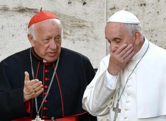 Il cardinale Ezzati con papa Francesco
