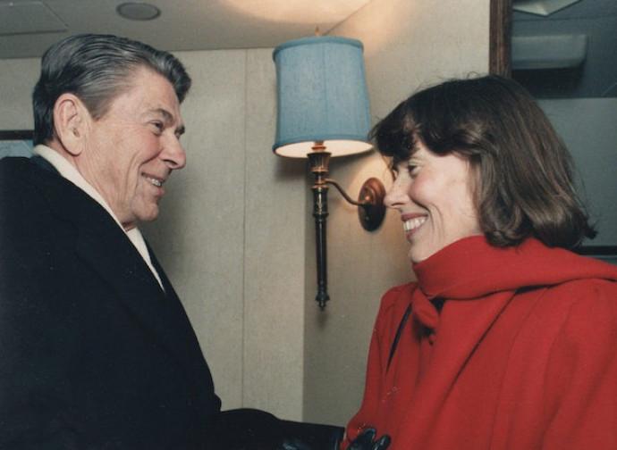 Faith Whittlesey con il presidente Reagan