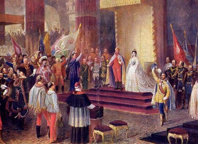 L'incoronazione a Budapest di Francesco Giuseppe