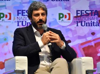 Roberto Fico (5 Stelle) alla festa dell'Unità del PD. Prossima coalizione?