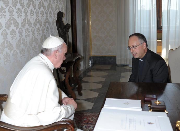 Padre Antonio Spadaro con Papa Francesco