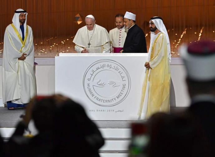 Papa Francesco e Al Tayeb