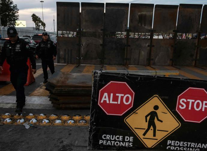 Posto di frontiera fra Usa e Messico