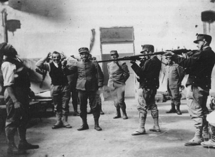 Fucilazione di un disertore nella Grande Guerra
