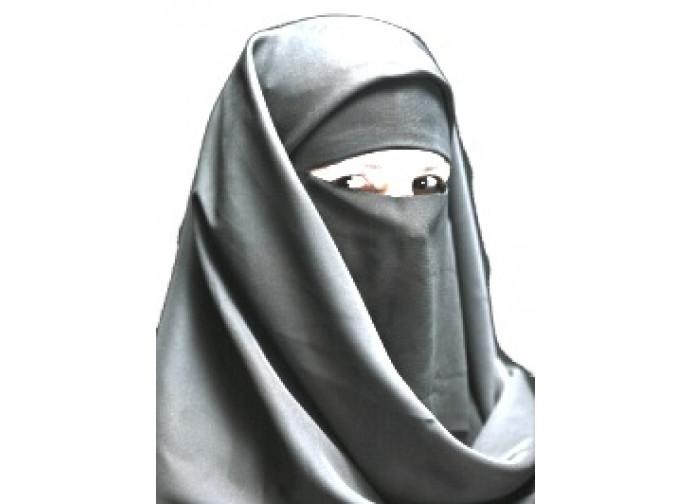 Donna musulmana con il burqa