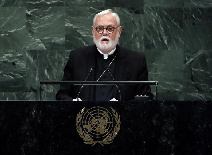 Monsignor Paul Gallagher, segretario vaticano per i Rapporti con gli Stati