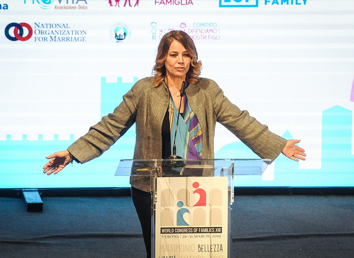 Elisabetta Gardini al Congresso mondiale delle famiglie