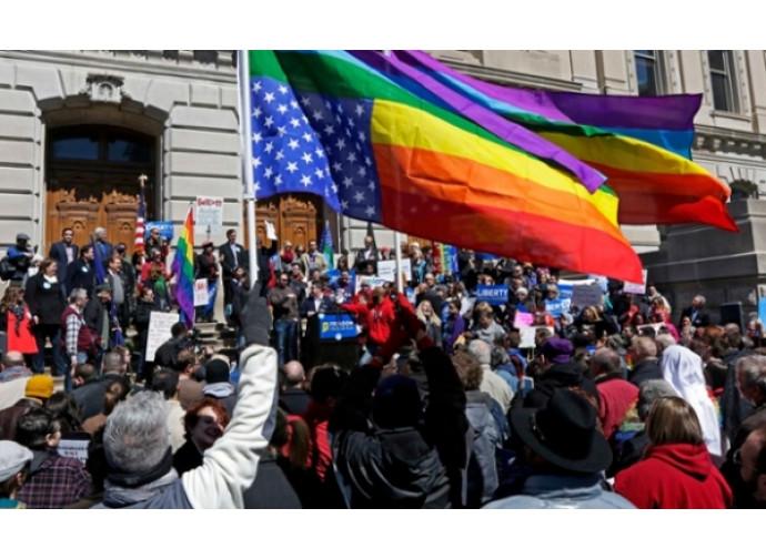 Manifestazione gay negli Usa