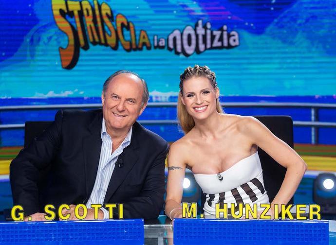 Gerry Scotti e Michelle Hunzicker