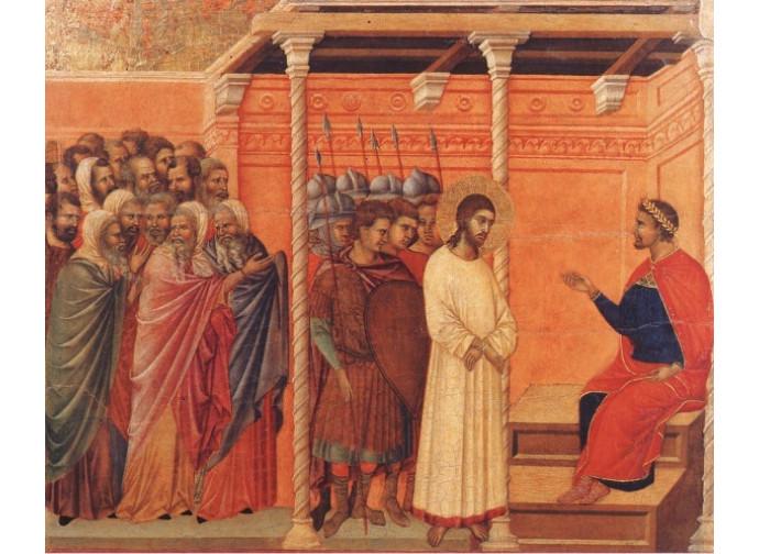 Gesù davanti a Pilato - Duccio