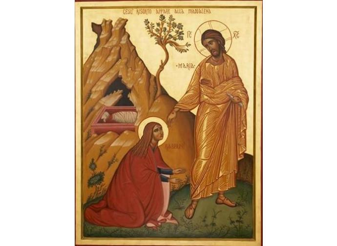 Icona, Gesù risorto appare alla Maddalena