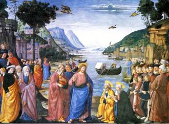 La vocazione dei primi apostoli, gli occhi fissi su Gesù
