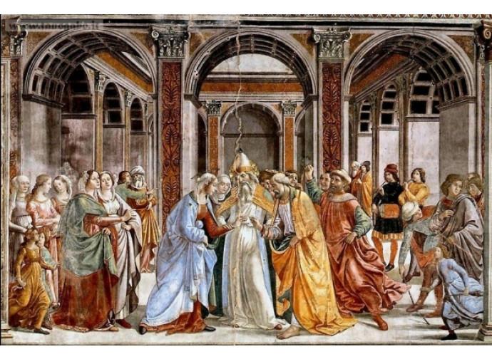Sposalizio della Vergine - Ghirlandaio 2