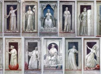"""Giotto e le virtù, espressione del """"sì"""" a Cristo"""