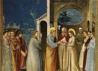 Gli occhi sicuri di Giuseppe di fronte a Maria
