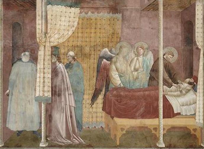 Giotto, san Francesco malato