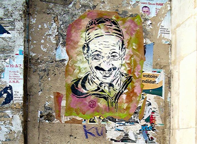 Murales arabi nel quartiere della Gouttes d'Or, Parigi