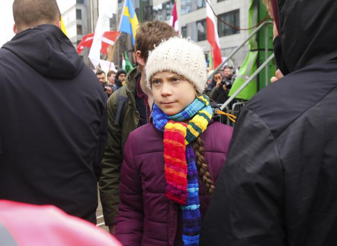Greta Thunberg a Bruxelles