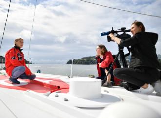 Greta Thunberg a bordo del Malizia 2