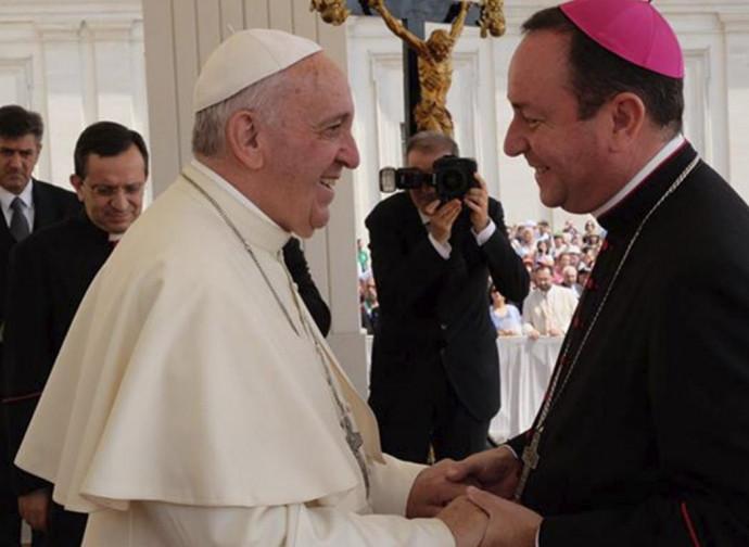 Il Papa con il vescovo Zanchetta