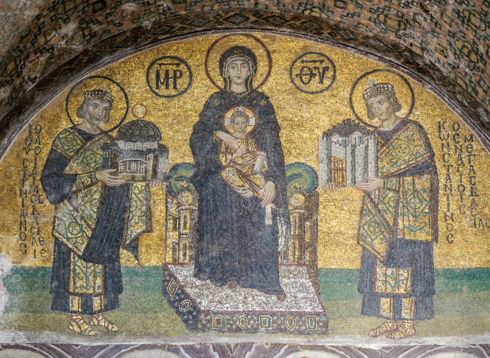 Istanbul, Hagia Sofia (mosaico all'ingresso occidentale)