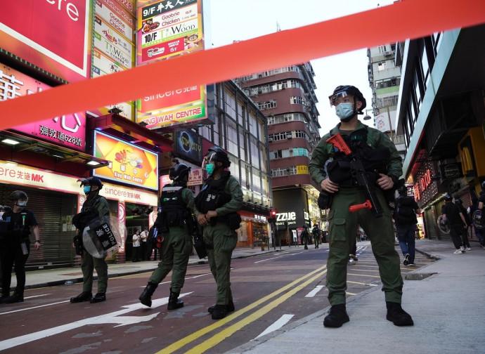 Polizia a Hong Kong