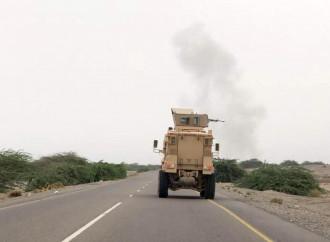 Hodeida, blindato dei regolari yemeniti in perlustrazione