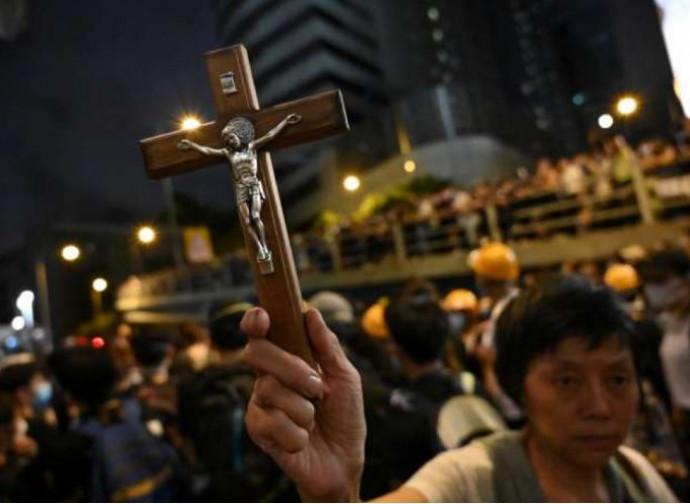 Hong Kong, la manifestazione dei cattolici
