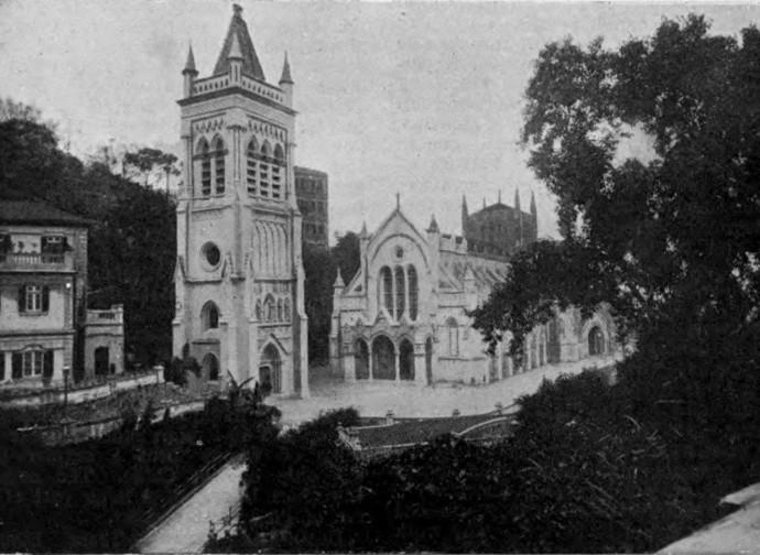 La cattedrale cattolica di Hong Kong nel 1908