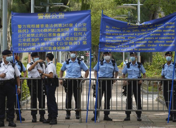 Hong Kong, polizia chiude il parco Vittoria