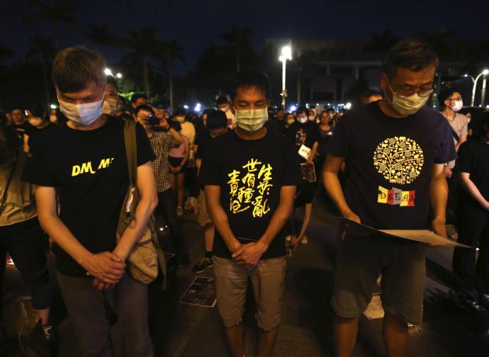 Hong Kong, la veglia per Tienanmen