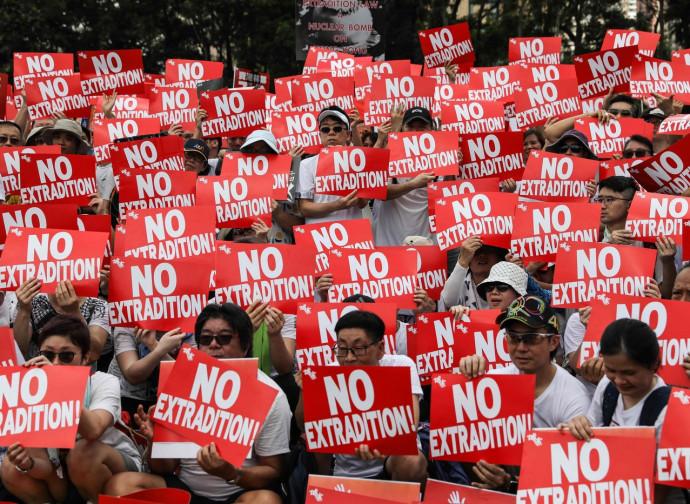 Hong Kong. La protesta contro la nuova norma sull'estradizione