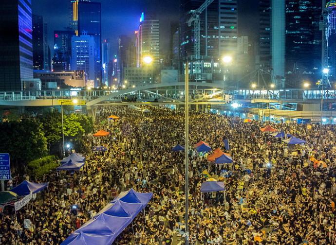 La protesta di Hong Kong nel 2014