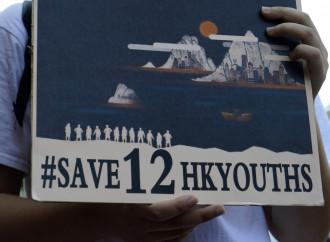 """I 12 fuggitivi di Hong Kong """"colpevoli"""" in Cina"""