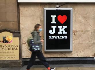 "Via spot ""I love J.K. Rowling"""