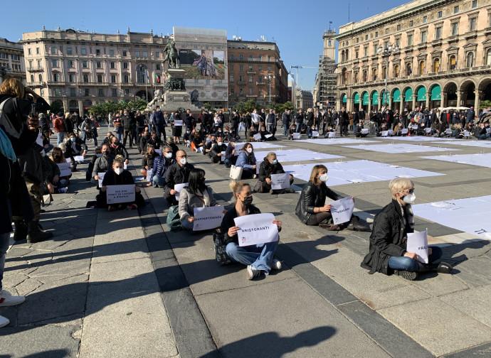 La protesta a Milano