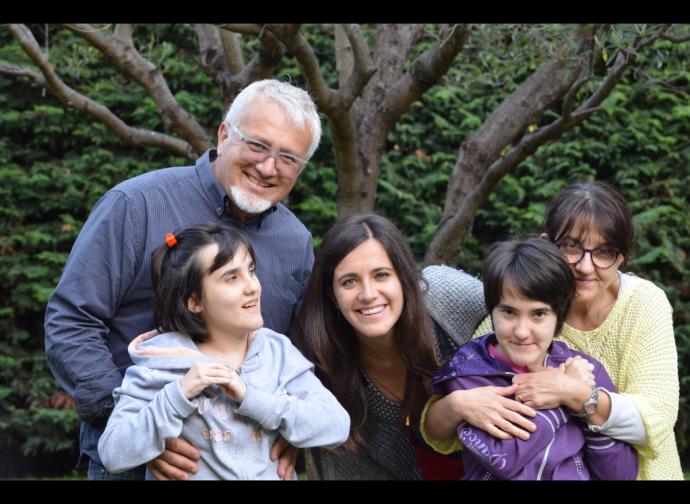 Anna, Giulia e famiglia