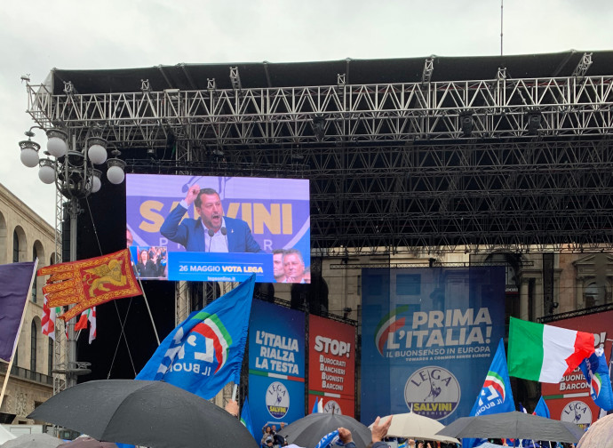 Matteo Salvini a Milano (foto dell'autore)