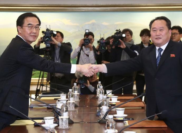 L'incontro fra le due delegazioni