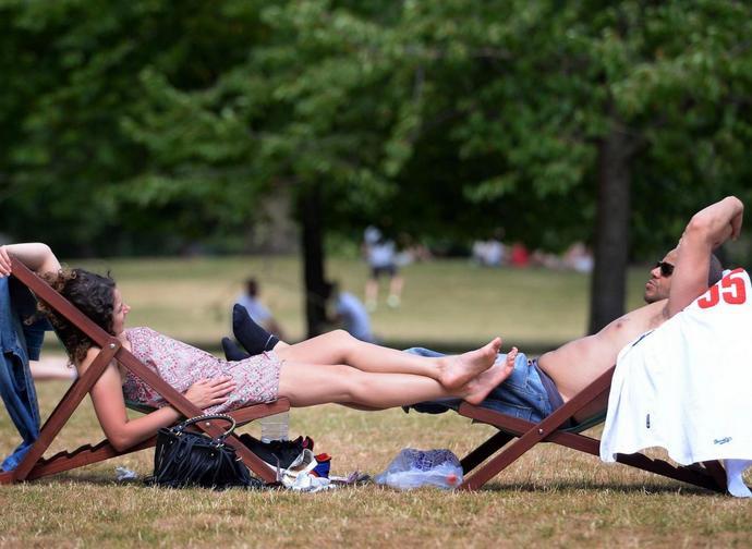 Caldo a St James's Park a Londra