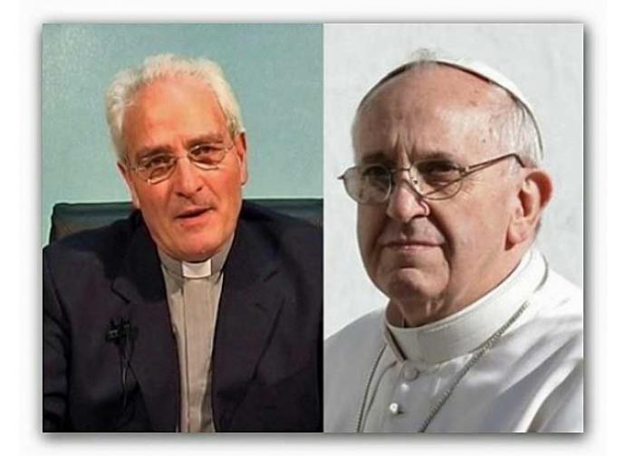 Il pastore Giovanni Traettino e Papa Francesco