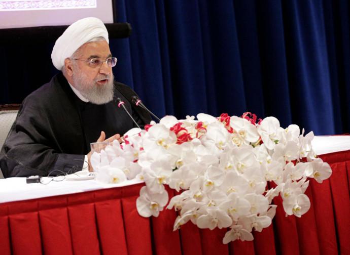 Conferenza stampa di Rouhani, presidente iraniano