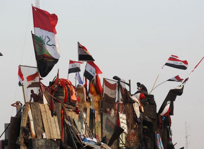 Manifestanti a Baghdad