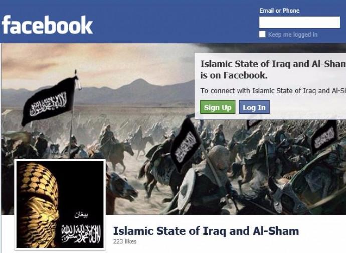 La vecchia pagina Facebook dell'Isis