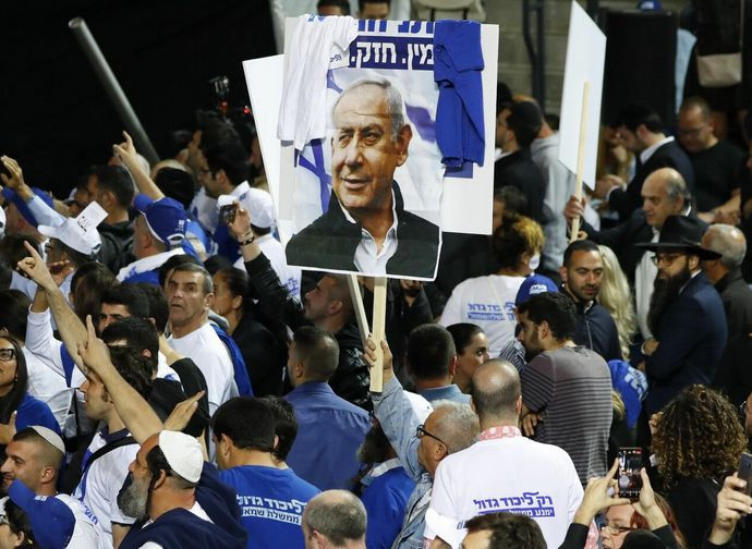 Israele, sostenitori di Netanyahu in piazza