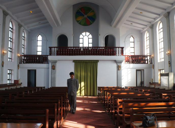 La cattedrale di Jangchung a Pyongyang